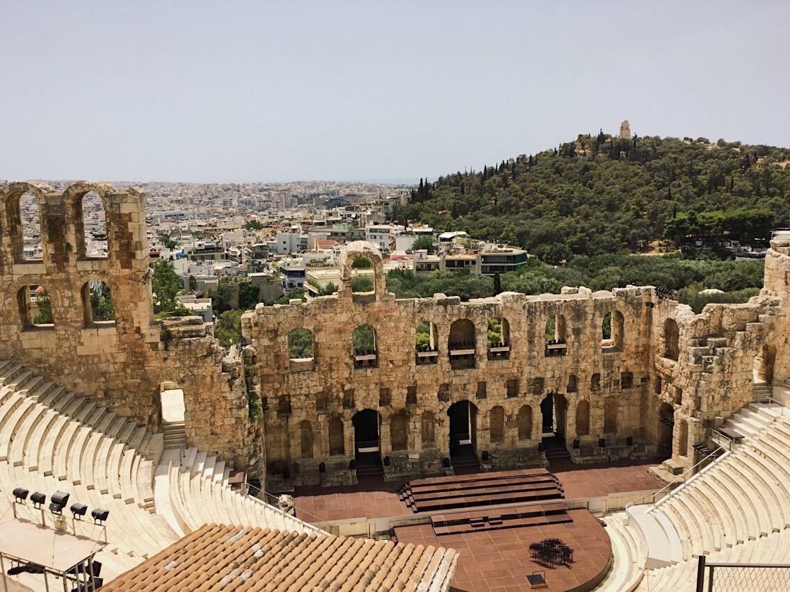Odeón de Herodes Atico Atenas Acropolis Lolanoviajasola