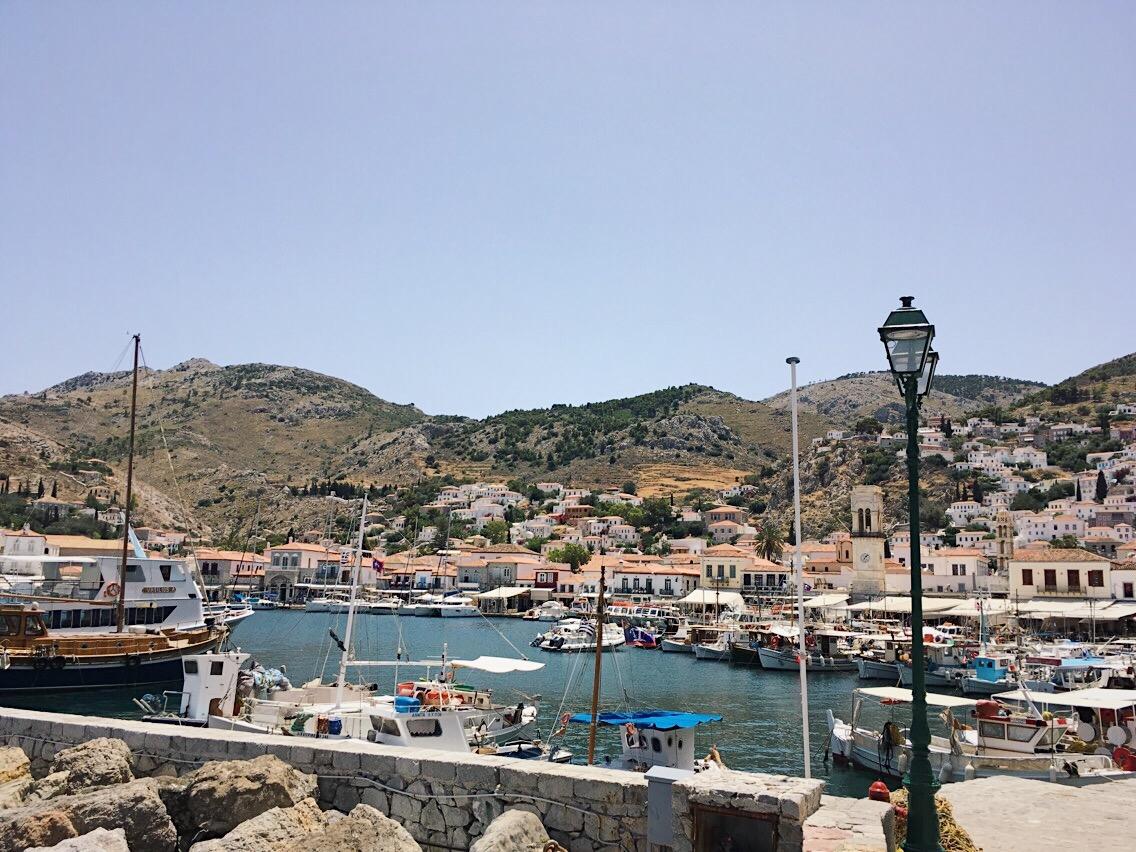 Puerto de Hydra. Grecia. Lolanoviajasola