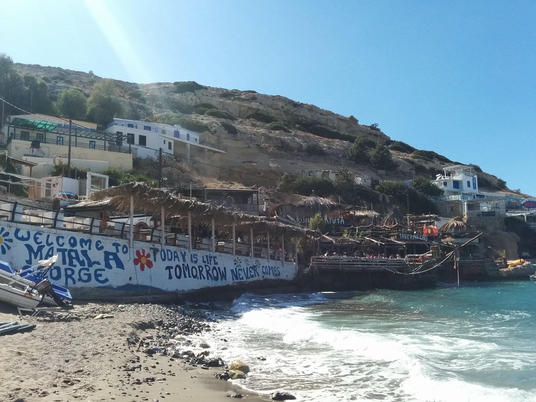 playa de matala creta lolanoviajasola